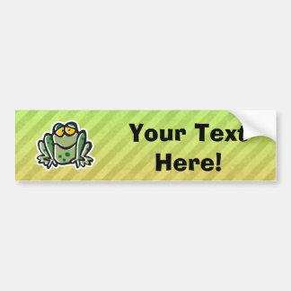 Diseño lindo de la rana etiqueta de parachoque