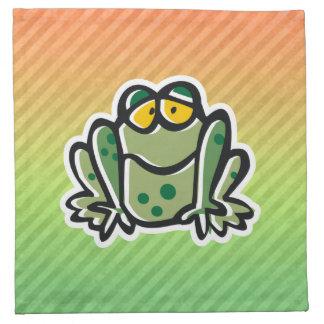 Diseño lindo de la rana servilletas