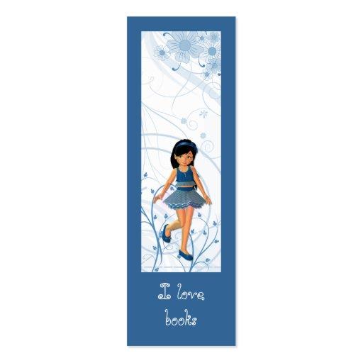 Diseño lindo de la señal del chica plantilla de tarjeta de negocio