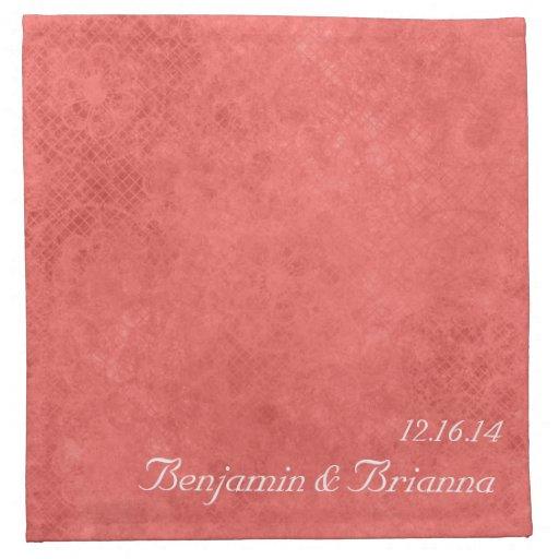 Diseño lindo de la servilleta del vintage