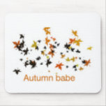 ¡Diseño lindo de las hojas de otoño! Tapete De Ratón