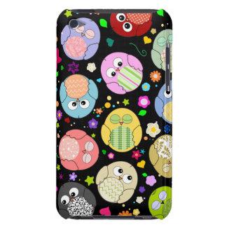 Diseño lindo de los búhos y de las flores del dibu Case-Mate iPod touch protectores