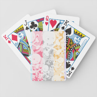 Diseño lindo de los cráneos en el arco iris cartas de juego