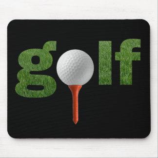 Diseño lindo de los deportes del golf alfombrillas de raton