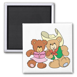 diseño lindo de los osos de peluche del baile cuad imanes para frigoríficos