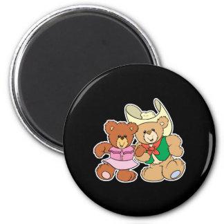 diseño lindo de los osos de peluche del baile cuad iman para frigorífico