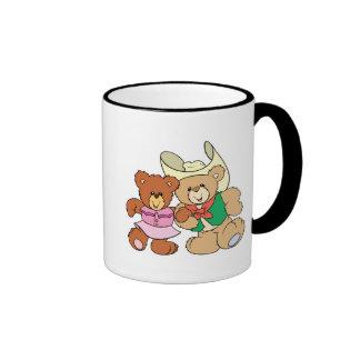 diseño lindo de los osos de peluche del baile cuad tazas de café