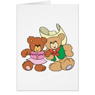 diseño lindo de los osos de peluche del baile tarjeta de felicitación