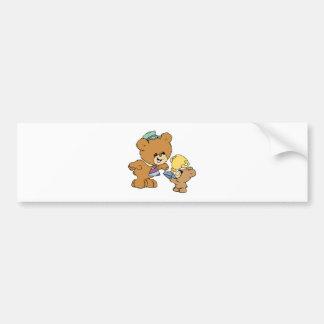 diseño lindo de los osos de peluche del padre más  pegatina de parachoque