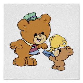 diseño lindo de los osos de peluche del padre más  poster