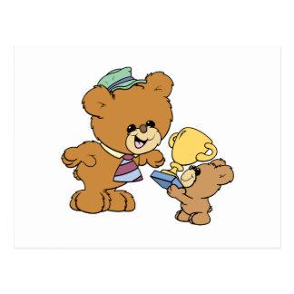 diseño lindo de los osos de peluche del padre más tarjetas postales