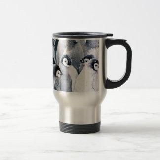 diseño lindo de los pingüinos del pingüino del taza térmica