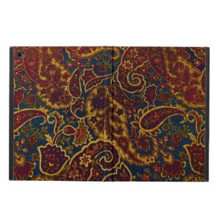 Diseño lindo de Paisley del marrón oscuro del