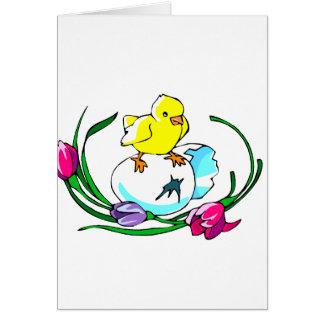 diseño lindo de pascua del tulipán del huevo del tarjeta pequeña