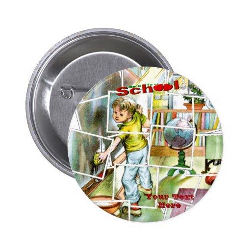Diseño lindo del ayudante de los maestros pin redondo 5 cm