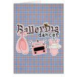 Diseño lindo del bailarín de la bailarina tarjeta