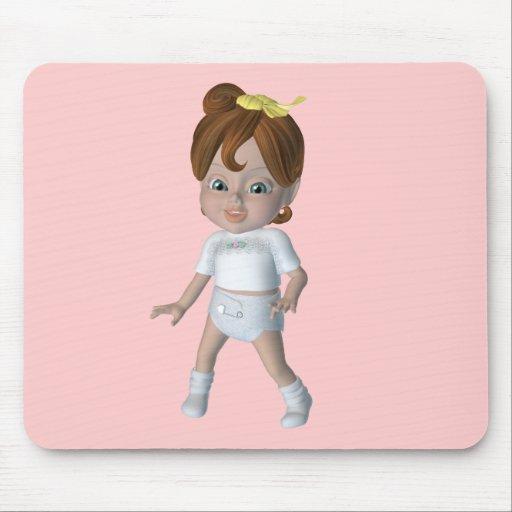 Diseño lindo del bebé del dibujo animado tapetes de raton