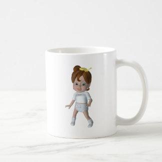 Diseño lindo del bebé del dibujo animado taza de café