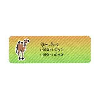 Diseño lindo del camello etiqueta de remitente