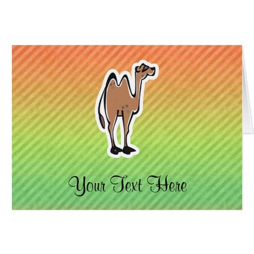 Diseño lindo del camello tarjetón