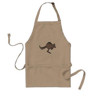 Diseño lindo del canguro delantal