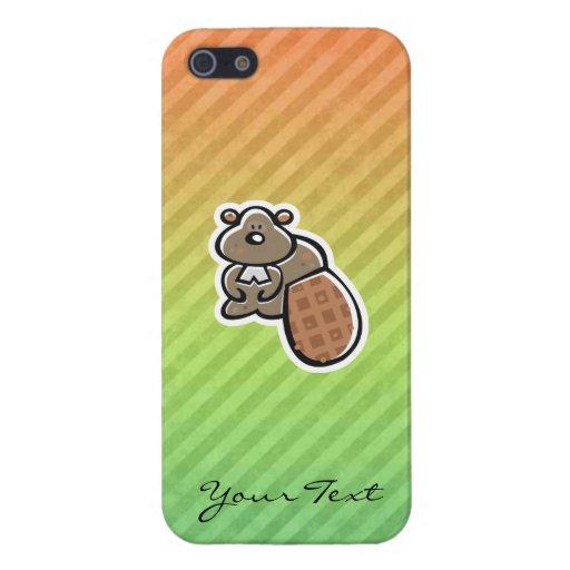 Diseño lindo del castor iPhone 5 coberturas