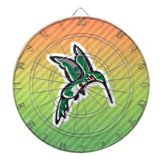 Diseño lindo del colibrí tablero de dardos