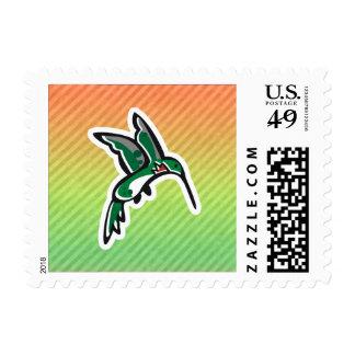 Diseño lindo del colibrí sello