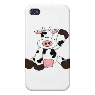 Diseño lindo del dibujo animado de la vaca iPhone 4/4S carcasa