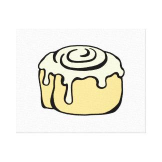 Diseño lindo del dibujo animado del bollo de miel impresión de lienzo