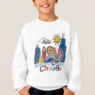 Diseño lindo del horizonte de los niños de Chicago Sudadera