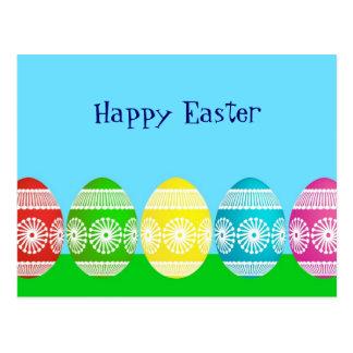 Diseño lindo del huevo de los azules claros felice postales