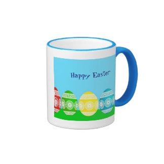 Diseño lindo del huevo de los azules claros taza de dos colores