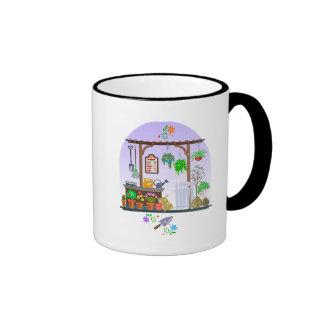 Diseño lindo del jardín taza a dos colores