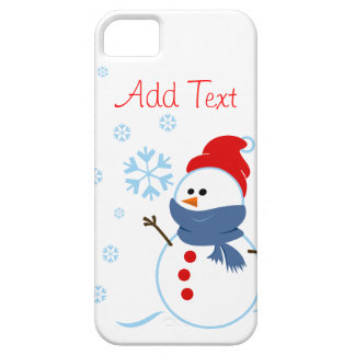 Diseño lindo del muñeco de nieve iPhone 5 fundas