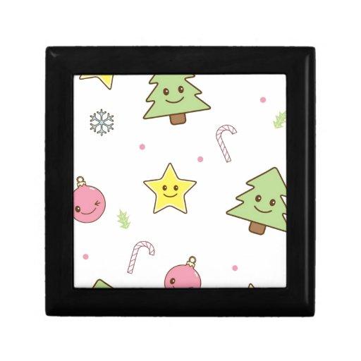 Diseño lindo del navidad de Kawaii Caja De Recuerdo