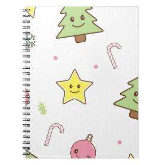 Diseño lindo del navidad de Kawaii Libretas