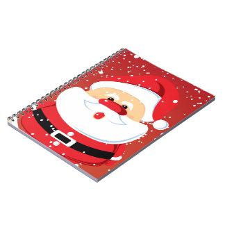 Diseño lindo del navidad de Papá Noel Libretas