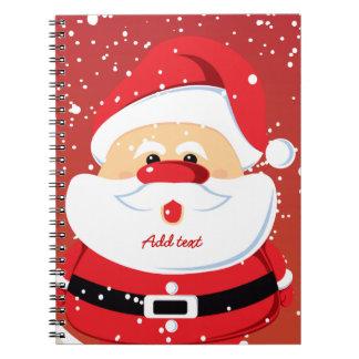 Diseño lindo del navidad de Papá Noel Libros De Apuntes Con Espiral
