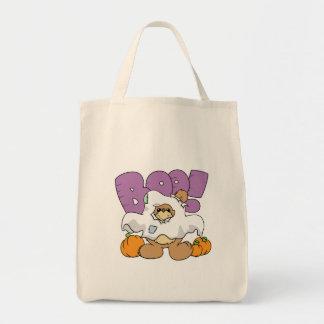 diseño lindo del oso de peluche de Halloween del f Bolsas Lienzo
