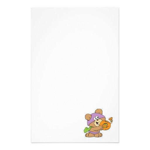 diseño lindo del oso de peluche de Halloween Papelería De Diseño