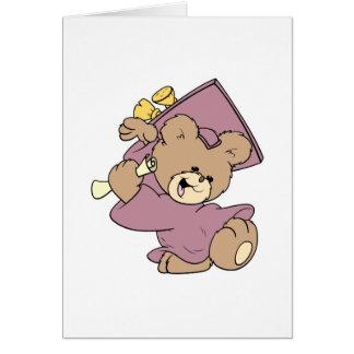 diseño lindo del oso de peluche de la graduación d tarjeton