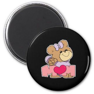 diseño lindo del oso de peluche de la mamá del día iman de frigorífico