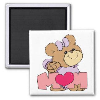 diseño lindo del oso de peluche de la mamá del día imán