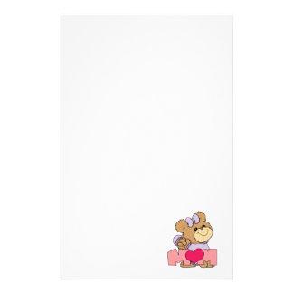 diseño lindo del oso de peluche de la mamá del día papelería personalizada