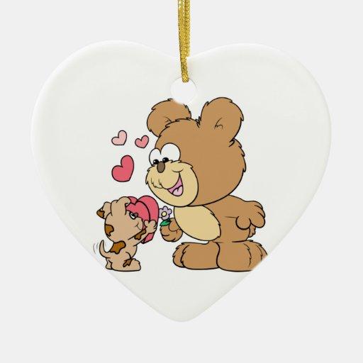 diseño lindo del oso de peluche de la tarjeta del  ornato