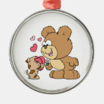 diseño lindo del oso de peluche de la tarjeta del  ornamente de reyes