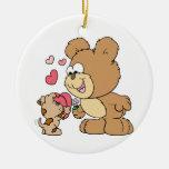 diseño lindo del oso de peluche de la tarjeta del  adorno