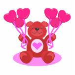 diseño lindo del oso de peluche de la tarjeta del  escultura fotográfica