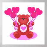 diseño lindo del oso de peluche de la tarjeta del  impresiones